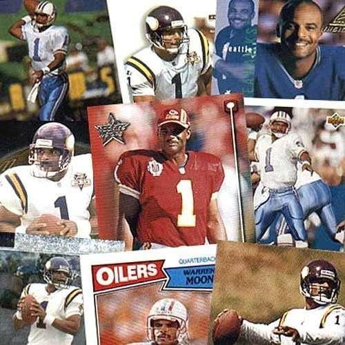 Minnesota Vikings Warren Moon 20 Trading Card Set