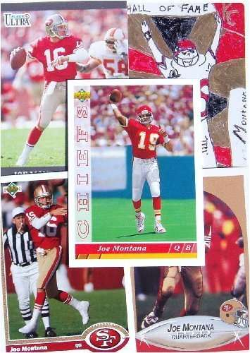 Joe Montana 25 Card Set with 2-Piece Acrylic Case