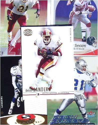 Deion Sanders 20-card set with 2-piece acrylic case