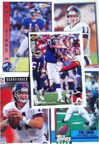 Phil Simms 20-card set with 2-piece acrylic case