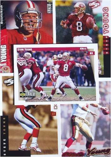 Steve Young 20-card set with 2-piece acrylic case