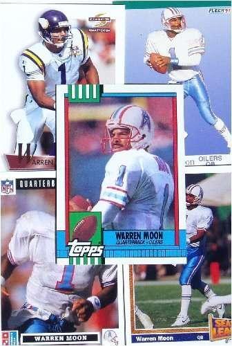 Warren Moon 20-card set with 2-piece acrylic case
