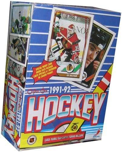 1991/92 O-Pee-Chee Hockey Box - 36 packs / 8 cards per pack