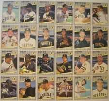 1989 Fleer Pittsburg Pirates Team Set