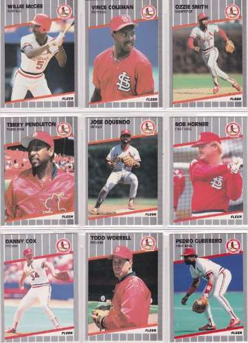 St. Louis Cardinals 1989 Fleer Baseball Card Team Set