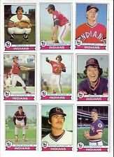 1979 Topps Cleveland Indians Baseball Card Team Set
