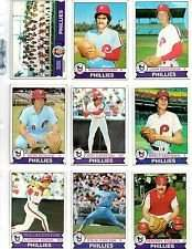 1979 Topps Philadelphia Phillies Baseball Card Team Set