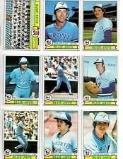 1979 Topps Toronto Blue Jays Baseball Card Team Set