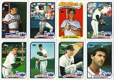1989 Topps Detroit Tigers Team Set