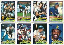 1989 Topps Seattle Mariners Team Set