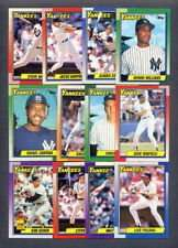 1990 Topps New York Yankees Team Set (Bernie Williams Rookie Card)
