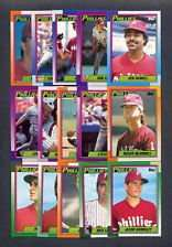 1990 Topps Philadelphia Phillies Team Set