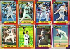 1990 Topps Texas Rangers Team Set