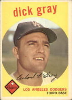 1959 Topps #244 Dick Gray Very Good-Excellent [Misc.]