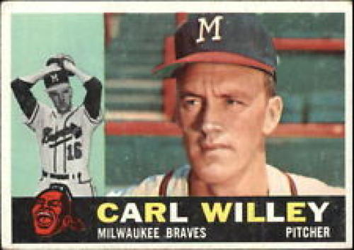 1960 Topps #107 Carl Willey EX - Excellent or Better