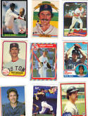40 Different Boston Red Sox Baseball Cards from 1980-1989 - In Protective Display Album!