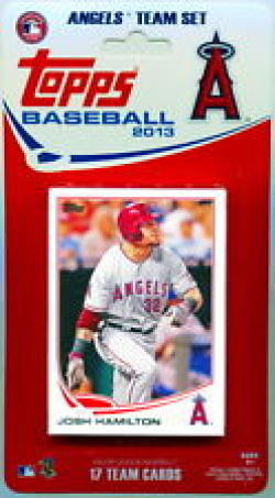 2013 Anaheim Angels Topps Factory Sealed Baseball 17 Card Team Set