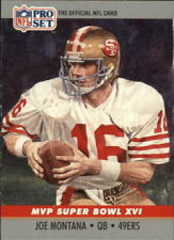 1990 Pro Set Super Bowl MVP's #16 Joe Montana NM-MT 49ers
