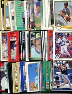 40 Different Milwaukee Brewers Baseball Cards from 1980-1989 - Shipped in Protective Display Album!