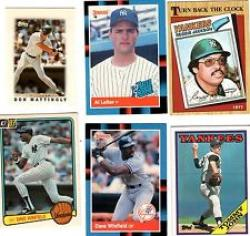 40 Different New York Yankees Baseball Cards from 1980-1989 - Shipped in Protective Display Album!