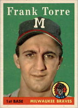 1958 Topps #117 Frank Torre Excellent +