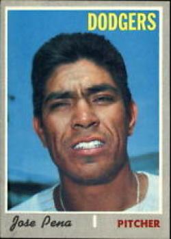 1970 Topps #523 Jose Pena Nr. Mint