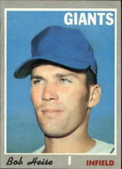 1970 Topps #478 Bob Heise Nr. Mint RC Rookie