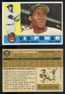 1960 Topps #75 Vic Power EX++ Excellent++ Indians UER