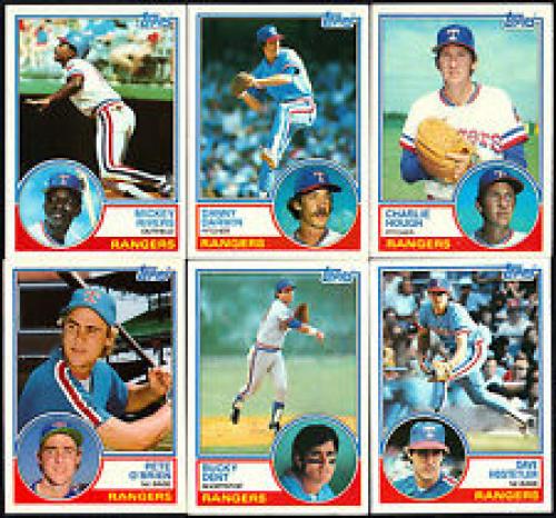 1983 Topps Texas Rangers Team Set (25) Cards
