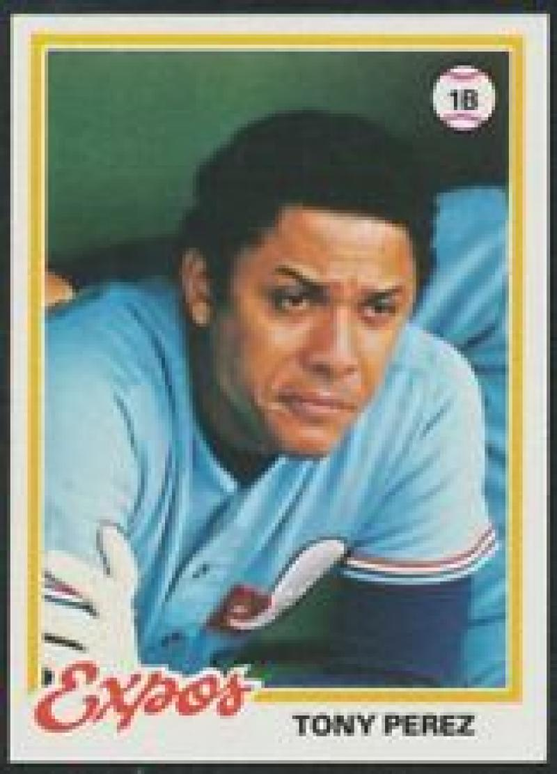 1978 Topps #15 Tony Perez NM Near Mint Close TO 50/50!