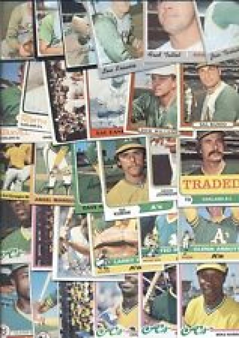 1975 thur 1979 Topps Oakland Athletics 20 Assorted Baseball Cards