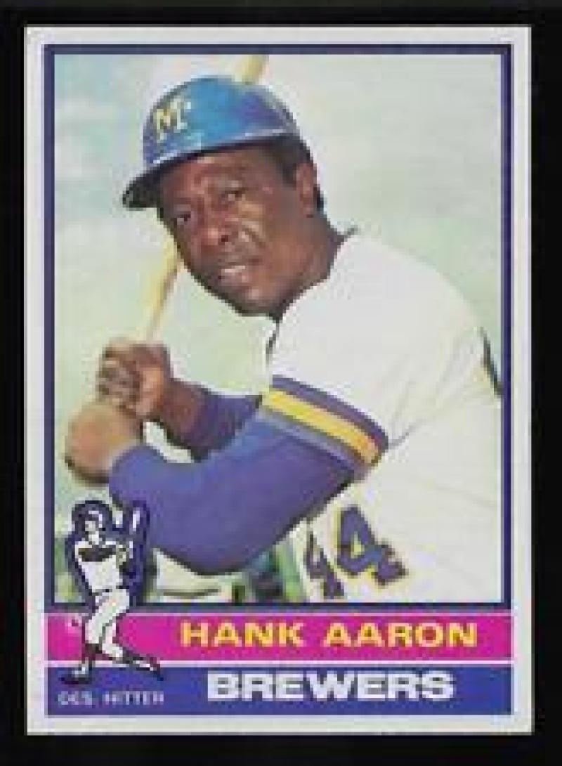 1976 Topps #550 Hank Aaron Milwaukee Brewers