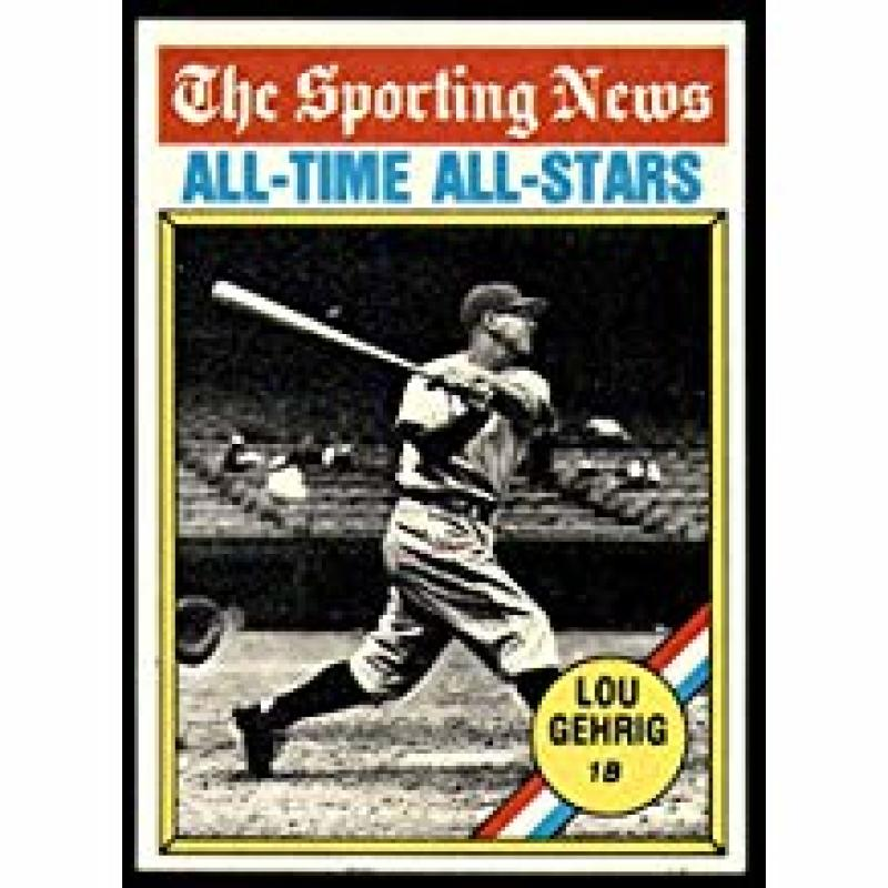 1976 Topps #341 Lou Gehrig - All Time Greats New York Yankees