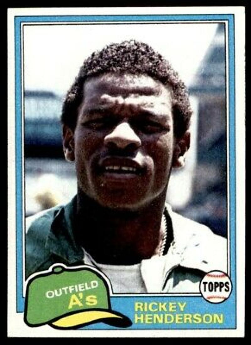 1981 Topps Rickey Henderson Baseball Card #261 - Shipped In Protective Display Case!