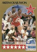 1990-91 Hoops #23 Hakeem Olajuwon NM-MT AS SP
