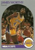 1990-91 Hoops #163 James Worthy NM-MT