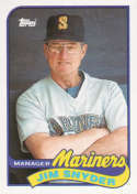 1989 Topps #44 Jim Snyder MG NM