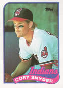 1989 Topps #80 Cory Snyder NM