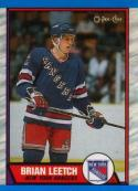 1989-90 O-Pee-Chee #136 Brian Leetch NM-MT RC Rookie