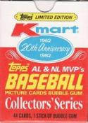 1982 Topps - K-Mart 20th Anniversary Baseball MVP Collector's Series 44 Card Boxed Set
