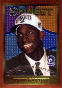 Kevin Garnett 1995-96 Topps Finest Rookie Basketball Card #115