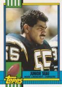 Junior Seau 1990 Topps Traded Football Card #28T