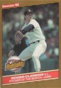 1986 Donruss Highlights #18 Roger Clemens NM-MT