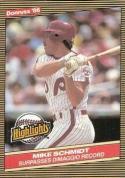 1986 Donruss Highlights #36 Mike Schmidt NM-MT