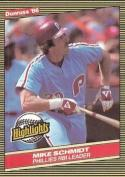 1986 Donruss Highlights #4 Mike Schmidt NM-MT
