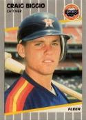1989 Fleer #353 Craig Biggio NM-MT RC Rookie