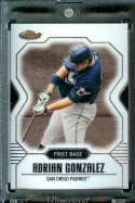2007 Topps Finest #72 Adrian Gonzalez Baseball Card San Diego Padres - Mint Condition - Shipped In Protective Display Case !!