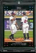 2007 Topps Andruw Jones Atlanta Braves #490 - Mint Condition Baseball Card - In Protective Display Case !