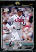 2008 Upper Deck #50 Andruw Jones - Braves - MLB Baseball Trading Card in a Protective Screw Down Display Case