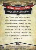 Brooks Robinson 2010 Topps Baseball Card #CMT-13 (From The Cards Your Mom Threw Out Parallel Set)